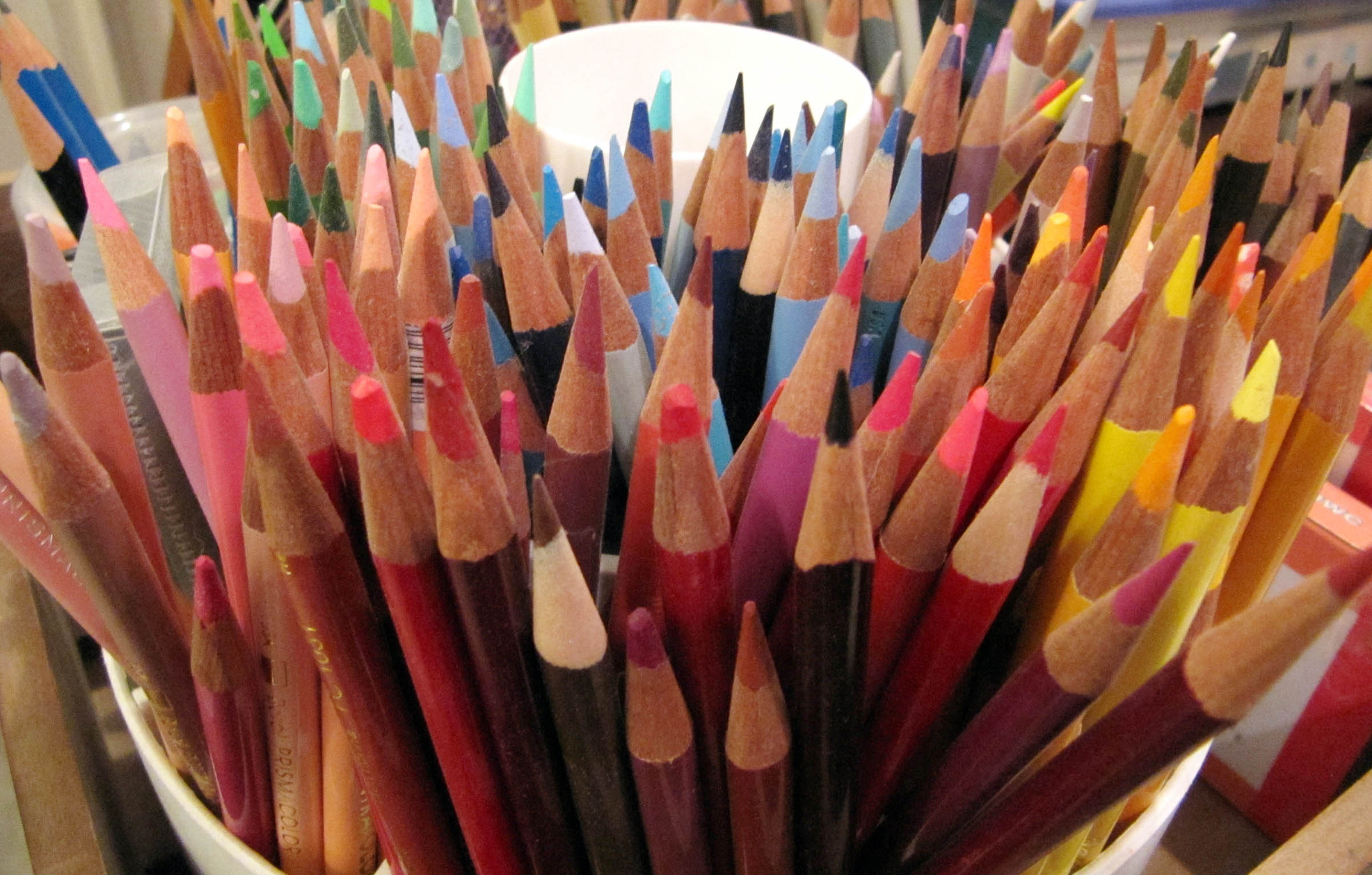 about header colored pencils