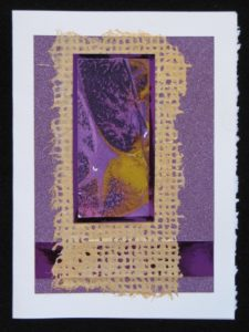Purple Mixed media collage greeting card on Etsy