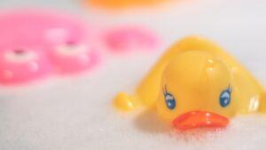 Rubber Duck in Bubble Bath